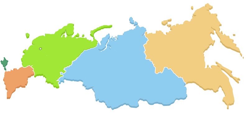 Russia Map of SDA Churches