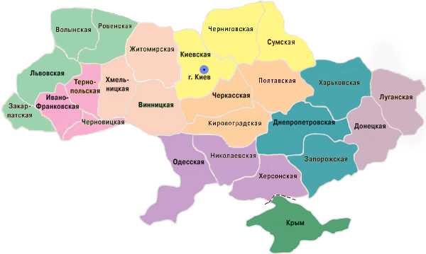 Ukraine Map of SDA Churches